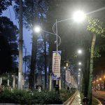 Đèn LED chiếu sáng tại Công viên Văn Lang.